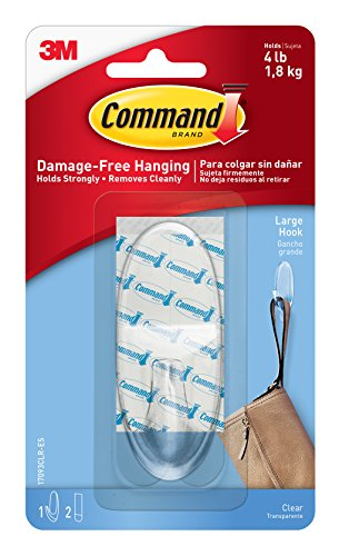 Command 17093CLR Large Hook with Strips - Clear