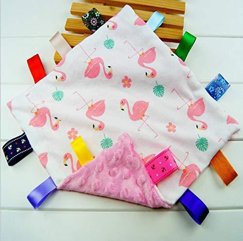 Baby Girl rose Tag Couverture de sécurité - Réchauffez Safe en peluche Consolateur sécurité Couverture, Super Soft Security Blanket Jouet meilleur cadeau de douche pour bébé