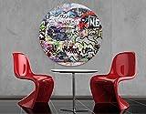 Leinwandbild Kreis Graffiti Ellipsen Rund Street Art Jugendkultur Hip Hop, Leinwand, Leinwandbild XXL, Leinwanddruck, Wandbild