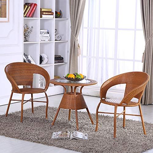 SEEKSUNG Stuhl, Couchtisch, Haus handgemachte PE-Rattan gewebt Tisch und Stuhl, umweltfreundliche...