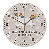 Mr. & Mrs. Panda 30 cm Wanduhr Einhorn Happy - 100% handmade in Norddeutschland - Einhorn, Einhörner, Unicorn, glücklich, fröhlich, Spaß, Freude, Lebensfreude, witzig, spannend, Lächeln, Lachen Wanduhr, Uhr, Kunderuhr, Kinderzimmer, Rund, Druck Einhorn, Einhörner, Unicorn, glücklich, fröhlich, Spaß, Freude, Lebensfreude, witzig, spannend, Lächeln, Lachen