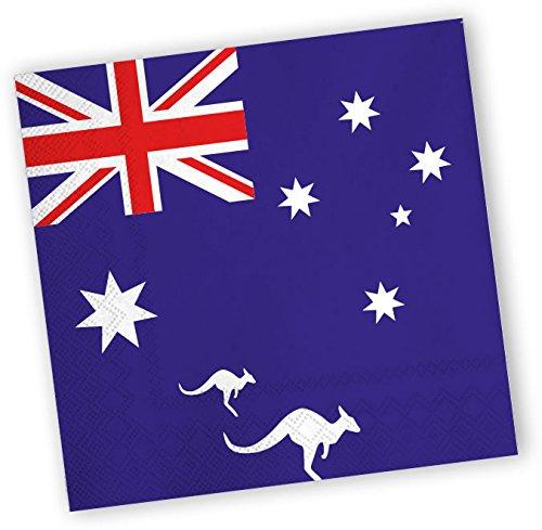 Preisvergleich Produktbild 20 Servietten * AUSTRALIEN * für Party und Geburtstag von DH-Konzept // Party Fete Set Napkins Papierservietten