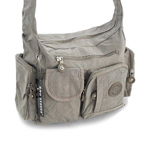 Bag Street borsa a tracolla borsa a tracolla borsa tempo libero Sport scuola Bodybag City Borsa in nylon–präsentiert von ZMOKA®, Blau (blu) - 0 pietra
