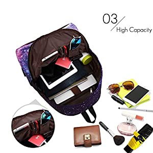 51Iwf1fwpNL. SS300  - FANDARE Mochila Galaxy Mochilas Tipo Casual Bolsas Escolares Niña Niño Bolsa de Viaje Bolsos de Mujer Adolescente School…