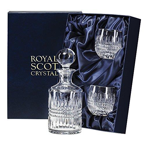 Royal Scot Crystal Single Malt Whisky Set Iona Design - Crystal Malt