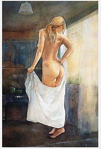 Der Anstrich der Rückseite einer nackten Frau handgemalte Ölgemälde , 20cm*25cm