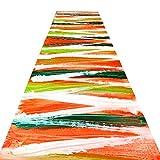 QiangDa Läufer Flur Teppich Lange Teppichläufer Polyester Nicht Skid Reaktivfarbstoff Knitterfestigkeit Für Halle, 2 Muster Multi-Größen (Farbe : A, größe : 0.8 x 4m)