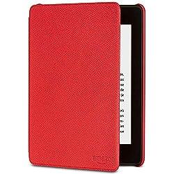 Étui Amazon en cuir pour Kindle Paperwhite (10ème génération - modèle 2018), Rouge