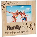 Familien-Bilderrahmen aus Holz, 15 x 10 cm.