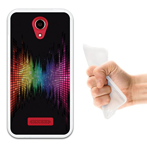 WoowCase Doogee X3 Hülle, Handyhülle Silikon für [ Doogee X3 ] Regenbogen Equalizer Wirkung Handytasche Handy Cover Case Schutzhülle Flexible TPU - Transparent