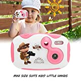 Mini Kids Digital Video Camera with Built-in Battery Gift for Children (Pink)