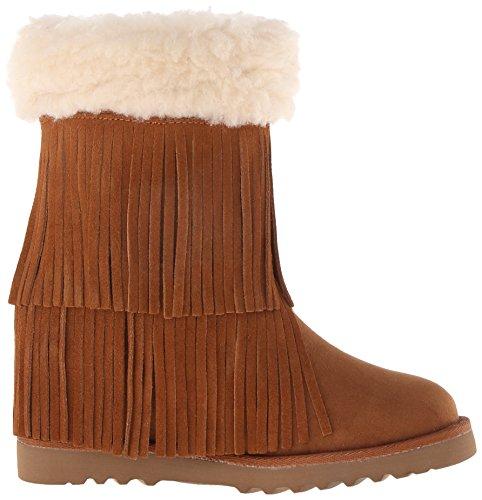 Madden Girl Sleet frangée Boot Cognac