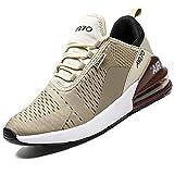 Mabove Laufschuhe Herren Turnschuhe Sportschuhe Straßenlaufschuhe Sneaker Atmungsaktiv Trainer für Running Fitness Gym Outdoor(Beige 270,43 EU)