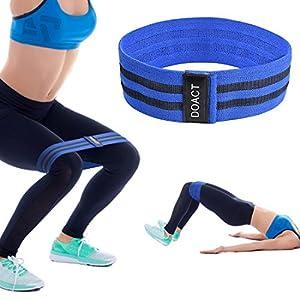 Doact Nylon Fitnessbänder, Gymnastikbänder Mit Unterschiedlichen Zugkräften Ideal für Muskelaufbau Physiotherapie Pilates Yoga Gymnastik und Reha-Sport