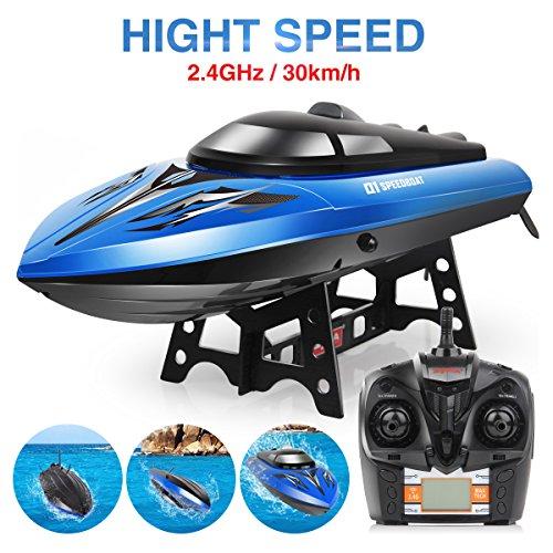Syma Q1 2.4 Ghz Fernbedienung Boote RC Schnellboot Schiff Rennboot Kinderspielzeug Speedboat mit High Speed-Blau