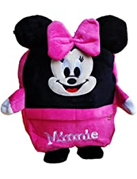 ToyJoy Minny Mouse Pink Cartoon School Bag (Age Group : 3-6 Yrs) 35cm 3 Compartment For Kids /Girls/Boys/Children...