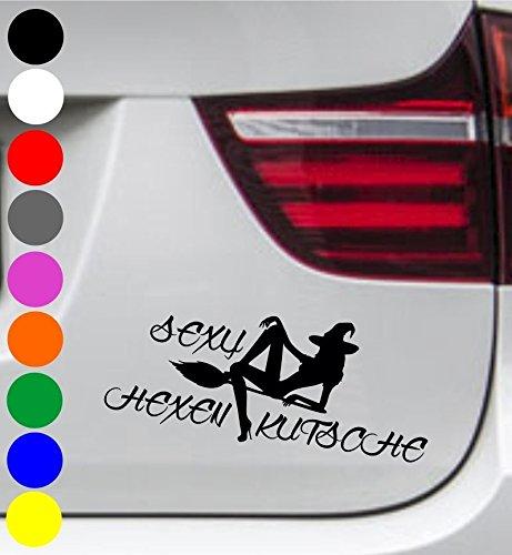 wDesigns Autoaufkleber Smutty HEXY HEXE HEXENKUTSCHE Tuning Aufkleber Sticker Sprüche