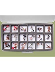 36sec Pêche à la Truite mouches, magnétique Slimline en boîte, tailles mélangées