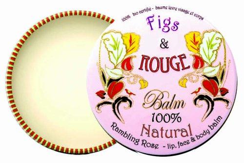 Figs & Rouge Baume pour les Lèvres Parfum Rambling Rose Boîte Métal 17 ml Lot de 2