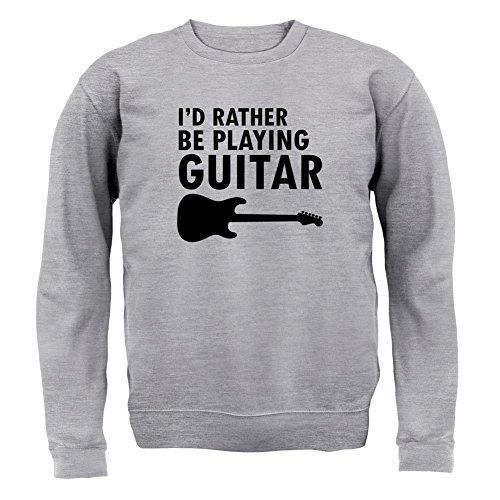 Ich Würde Lieber Gitarre Spielen - Kinder Pullover/Sweatshirt - Grau meliert - M (5-6 Jahre)
