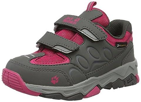 Jack Wolfskin Unisex-Kinder Mtn Attack 2 Texapore Low VC K Trekking-& Wanderhalbschuhe, Grau (Pink Raspberry), 36 EU