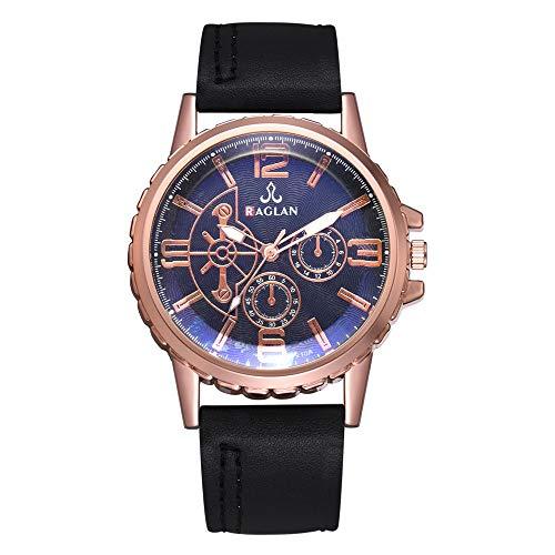 IG Invictus Mode Männer Quarzuhr Hochwertige Lederuhr Blu Ray Glas Armbanduhr Raglan XR3067 Herrenuhr mit Gürtel Männer Uhr -