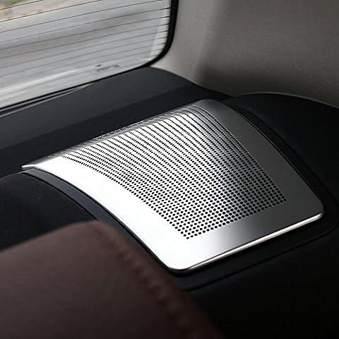 Audio stile finiture in acciaio inox Auto Adesivo Cover Posteriore altoparlante per BMW 5Series F10F18520li 525li 530LI