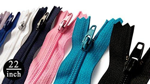 Ksf all' ingrosso 55,9cm cerniere in nylon # 3~ assortimento di colori (25cerniere)