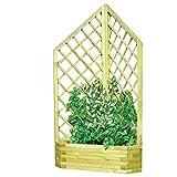 Sibrand Evergreen Rankgitter mit Blumenkübel eckig Holz Vertrag Möbel Garten eg51742
