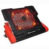 Thermaltake CLN0019 - Base de refrigeración para Ordenador portátil de hasta 17'', Negro y Rojo