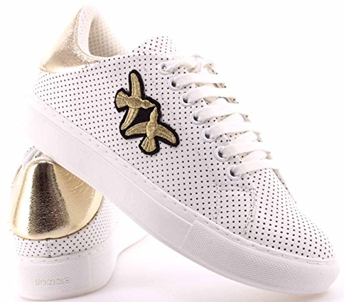 Pinko 1h209p-y395, Sneaker a Collo Basso Donna Bianco