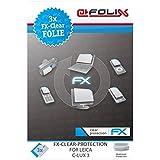 3 x atFoliX Leica C-Lux 3 Protecteur d'Écran - FX-Clear ultra claire