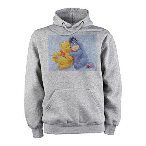 Winnie The Pooh Logo Hugging With Eeyore XXL Unisex Hoodie (Eeyore Hoodie)