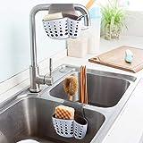 Morza Küche Storage Racks Doppelwaschbecken Caddy Sattel Stil Küchen-Organisator-Speicher Schwammhalter Rack-Werkzeug