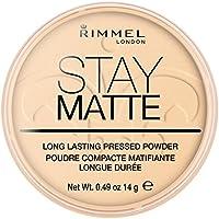 Rimmel Stay Matte, Maquillaje en polvo (tono 001, pieles claras) - 14 gr.