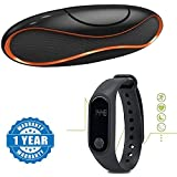 Captcha Huawei Honor Devices Compatible Certified Portable Rugby Shape Subwoofer Bluetooth Speakers & M2 Smart Fitness Band With Heart Rate Sensor/Pedometer/Sleep Monitoring Functions (One Year Warranty) (1 Year Warranty)