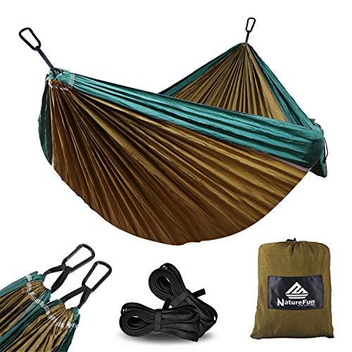 NatureFun Hamaca Ultra Ligera para Viaje y Camping | 300kg de Capacidad...