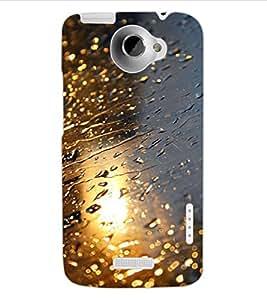 ColourCraft Rain Design Back Case Cover for HTC ONE X