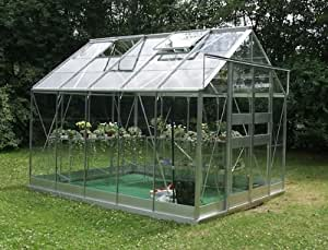Eden Halls Greenhouses Ltd Eden Highline 814 – Serre en aluminium XL : en verre – 6 mm en polycarbonate