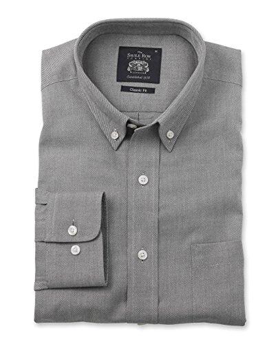 savile-row-mens-dark-charcoal-brushed-twill-smart-casual-classic-fit-single-cuff-shirt-s-standard