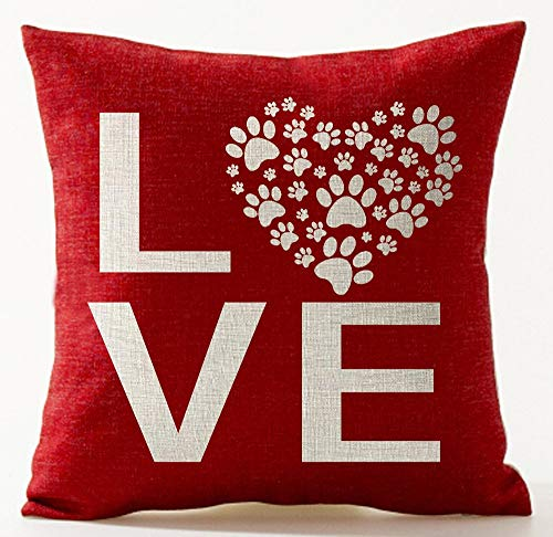 Sweethearts Bikini Set (MLNHY Best Gifts for Lover Sweet Letters Sweetheart Love Dog Paw Prints In Red Valentine's Day Courtship Polyester Decorative Throw Pillow Case Cushion Cover Square 18