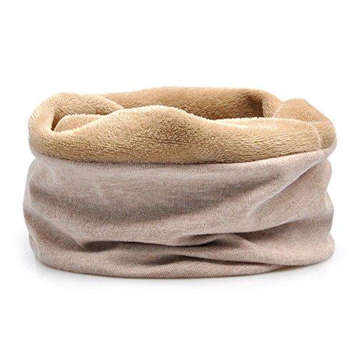 Arcweg scaldacollo invernale unisex cappello in pile multicolore sciarpa tubolare antivento e multiuso da uomo e donna cachi taglia unica