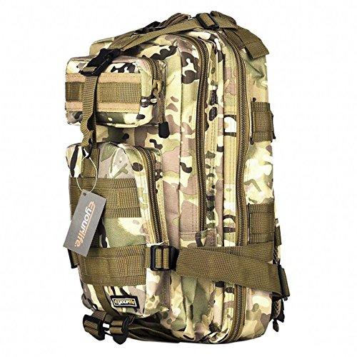Imagen de eyourlife  militar táctica molle para acampada camping senderismo deporte backpack de asalto patrulla para hombre mujer caqui colorido 20l