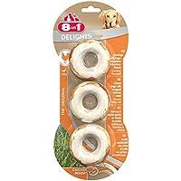 8in1 Delights Kauringe, für größere Hunde über 20 kg hochwertiges Hähnchenfleisch, 3 Stück (1 x 119 g)