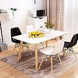 Nordic Massivholz Bein Esstisch kleine Wohnung Wohnzimmer Esstisch Haushalt rechteckige Speise sparsam Tisch