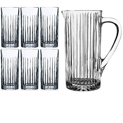RCR Timeless de cristal® 7piezas jarra jarra de vidrio Set (una jar
