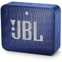 JBL GO 2 Mini Enceinte Portable - Étanche pour Piscine & Plage IPX7 - Autonomie 5hrs - Qualité Audio, Bluetooth, Bleu