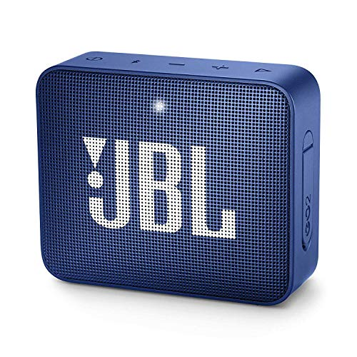 JBL GO 2 kleine Musikbox in Blau - Wasserfester, portabler Bluetooth-Lautsprecher mit Freisprechfunktion - Bis zu 5 Stunden Musikgenuss mit nur einer Akku-Ladung