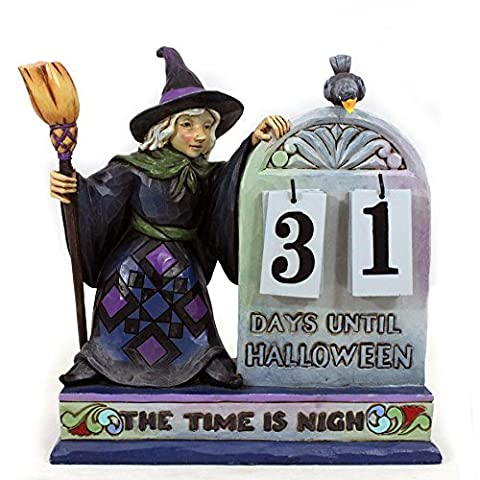 Jim Shore for Enesco Heartwood Creek Halloween Count Down Calendar, 6.5-Inch by Jim Shore for (Halloween Jim Shore)