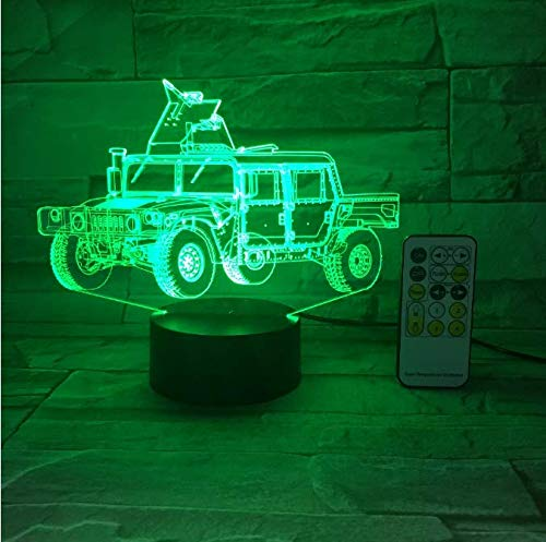 Big Truck Auto Nachtlicht 3D Usb Touch Schalter Fernbedienung Acryl 7 Farbverlauf Atmosphäre Lampen Kinder Geschenke